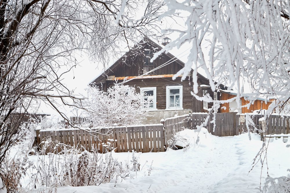 house with trees in ottawa winter